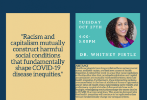 Recording of Dr. Pirtle's talk on COVID-19 and Racial Capitalism now available