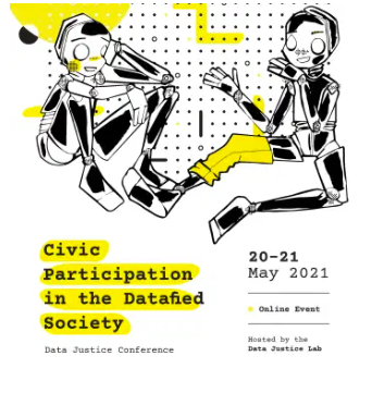 Poster for the Civic Participation in the Datafied Society conference taken from the conference website.
